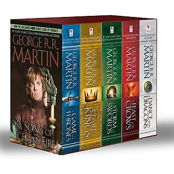 George R. R. Martins A Game of Thrones 5Book Boxed Set Song of Ice and Fire Series  A Game of Thrones A Clash of Kings A Storm of Swords A Feast for Crows and  A Dance with Dragons by George R R Martin