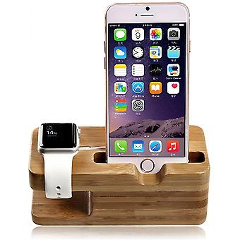 Wooden Charging Dock Stand For Apple Watch & Iphone 5/6,iphone 6 Plus