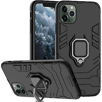 Protective Case Hard Pc Back Case With Finger Ring For Iphone 11 Pro