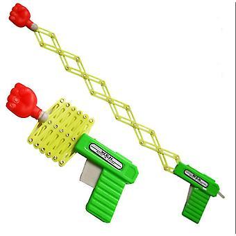 3 pcs Plastic Magic telescopic fist gun spring elastic gun, children's toy gun(S)