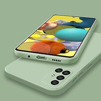 My choice Samsung Galaxy A21s Square Silicone Case - Soft Matte Case Liquid Cover Green
