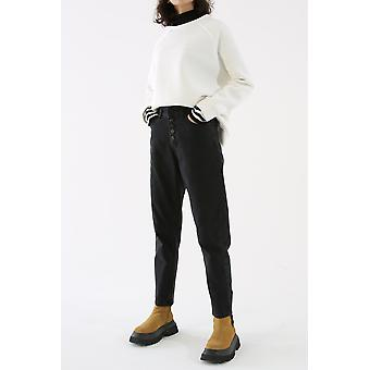 High Waist Button Front Mom Jeans