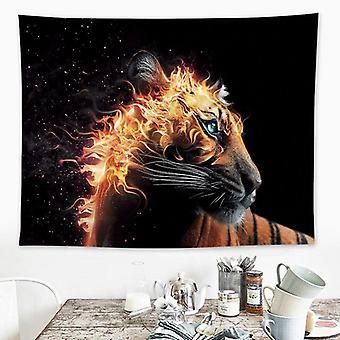 Animal Tiger Tapestry Sisustus Hippie Macrame Seinä roikkuu Mandala Tapestry Kodin koristeet