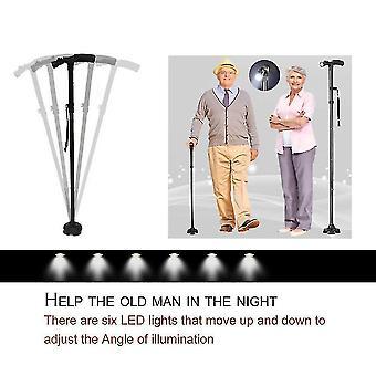 Magic Cane Folding Led Light Safety Walking Stick For Old Man T Handlebar