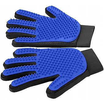 Pet Grooming Gloves - Fresh Dust Brush Gloves - Efficient Pet Hair Removal Gloves - Improved Five Finger Design - Matching Cats And Long Hair Dogs And