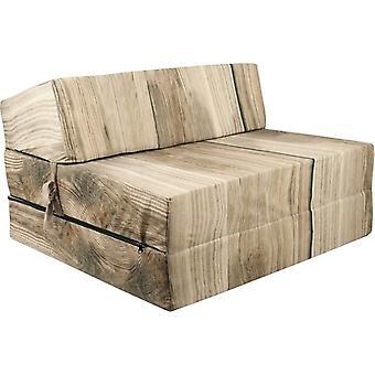 Materasso letto motivo legno - materasso pieghevole - 200x90x15 cm - materasso da campeggio