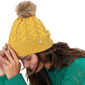 Joules Femme Elena Câble Tricot Bobble Bonnet Chapeau