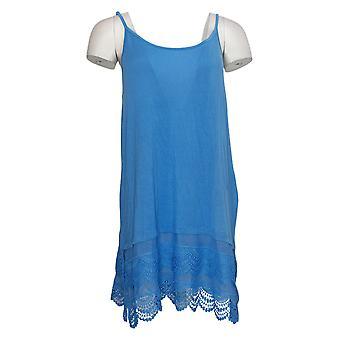 Rhonda Shear Plus Camisole w/Lace Details Blue 689722
