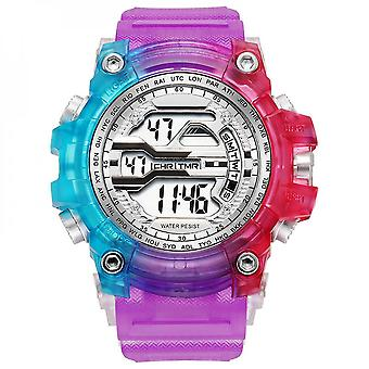 Colorful Digital Watch Square Sports Watches For Men Electronic Chronograph
