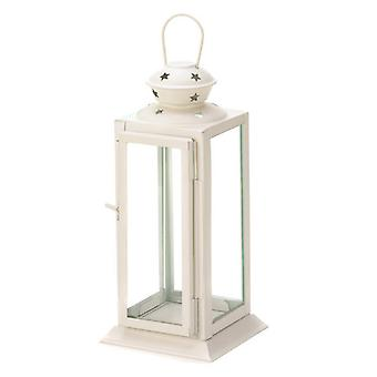Galerie des Lichts Quadrat Weißer Stern Kerzenlaterne - 8 Zoll, Packung mit 1