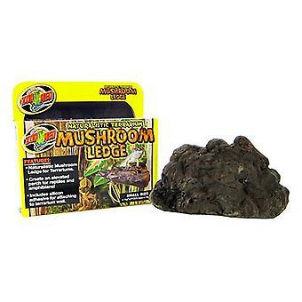 """Zoo Med Naturalistic Terrarium Mushroom Ledge - Small (7"""" Long x 4.5"""" Wide)"""