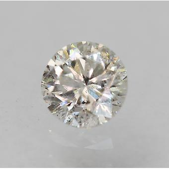 Certified 0.20 Carat D Color SI2 Round Brilliant Natural Loose Diamond 3.62mm