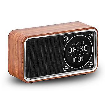 Koolmei Wecker Digital Multifunktionale Bluetooth Radio Display Led Holzuhr LED Display Holzuhr