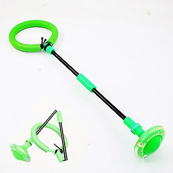 Balles rebondissantes glowing Un pied Clignotant Skip Ball Jump Ropes Sports Swing Ball Enfants Fitness