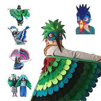 Siunattu luova pukeutuminen lastenjuhliin Halloween-rekvisiitta Huopasiivet