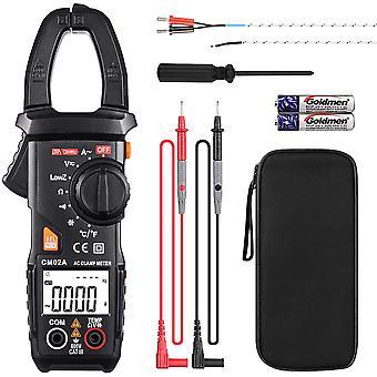 Clamp Ammeter, 6000 Count Multimeter, Non-contact Voltage Detection (ncv), True Rms, Temperature, Ac Current, Ac/dc Voltage, Resistance, Electrical Ca
