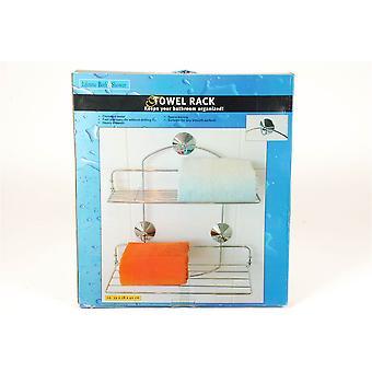 Chromé porte-serviettes métalliques pour salle de bain lourds soutien encombrant
