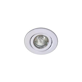 LED Robus Rida 50W Gu10 Pressed Steel Downlight, Ip20, 85Mm, White, Dimmable, Directional