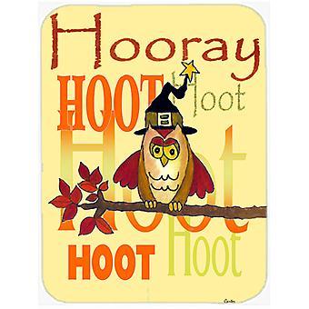 Carolines Schätze PJC1030LCB Hurra Hoot-Hoot Owl Glas Schneidebrett groß