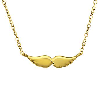 Wing - 925 Sterling Silver Plain Necklaces - W23101X