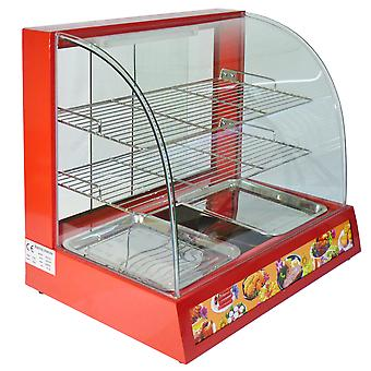 Electric Food Warmer / Large Commercial Hot Pasty Pie Table Showcase Cabinet