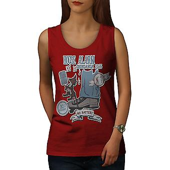 House Alarm Cool Fantasy Women RedTank Top | Wellcoda