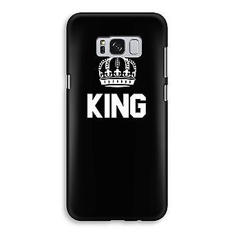 Samsung Galaxy S8 volledige Print Case (Glossy) - koning zwart