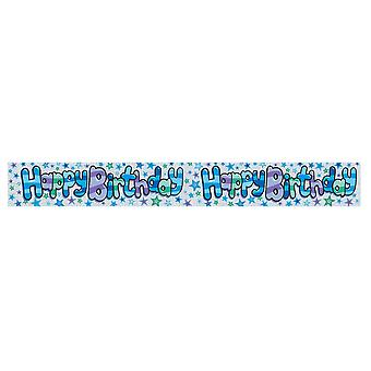 Expression Factory Holographic Blue Happy Birthday Foil Party Banner