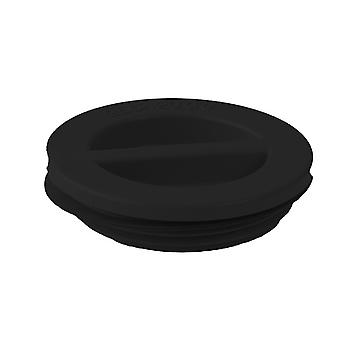 "Custom 25542-004-000 1.5"" MIP Flat Pool Plug with Gasket - Black"