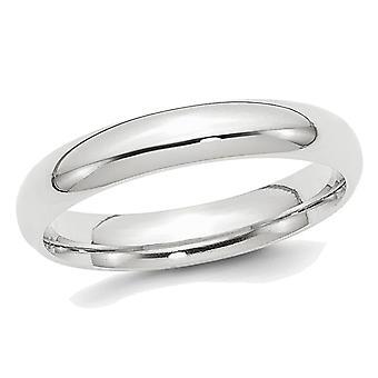 Ladies or Mens Platinum 4mm Comfort Fit Polished Wedding Band