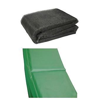 10 ft studsmatta tillbehör pack - grön Pad och nät