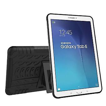Hybrid Outdoor Schutzhülle Case Schwarz für Samsung Galaxy Tab E 9.6 SM T560 T561 Tasche