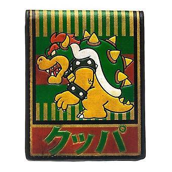 NINTENDO Super Mario Bros Bowser Kanji bi-fold portofel verde (MW1PX3SMB)