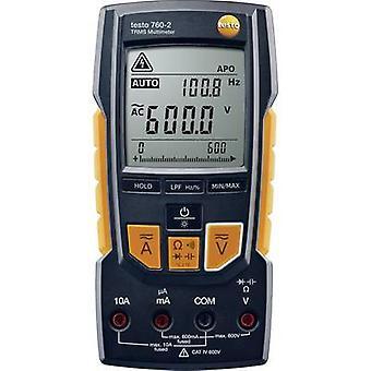 testo 760-2 handheld multímetro digital CAT III 1000 V, CAT IV 600 V display (contagens): 6000