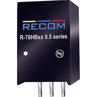 RECOM R-78 HB12-0.5 DC/DC ממיר (הדפסה) 48 V DC 12 V DC 0.5 A 6 W לא. של תפוקות: 1 x