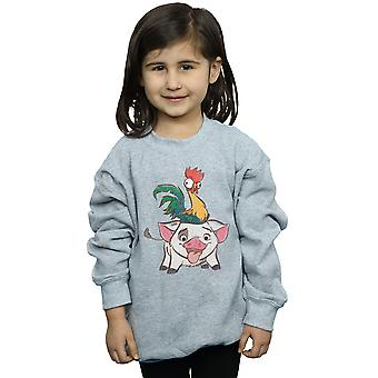Disney Girls Moana Hei Hei And Pua Sweatshirt