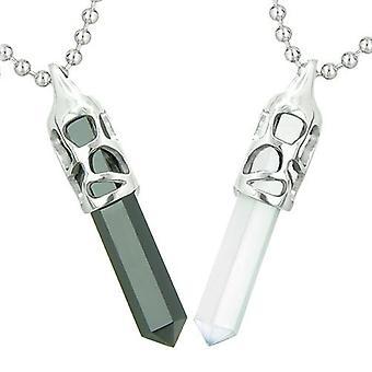 Amuletten liefde paren beste vrienden kosmische positieve Gelukssymbolen Yin Yang Onyx katten oog kettingen