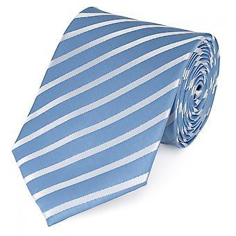 Tie stropdas tie stropdas 8cm licht blauw Fabio Farini wit gestreept