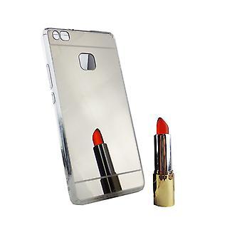 huawei P9 lite puhelimen tapauksessa peili pehmeä kotelo suojakansi hopea
