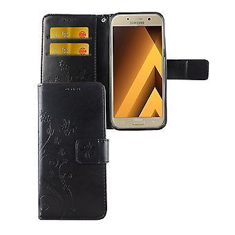 Fiori di copertura protettiva per cellulari Samsung Galaxy A3 2017 nero