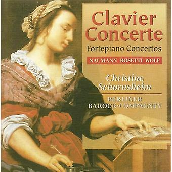 Christine Schornsheim - Naumann, Rosetti, Wolf: Fortepiano Concertos [CD] USA import