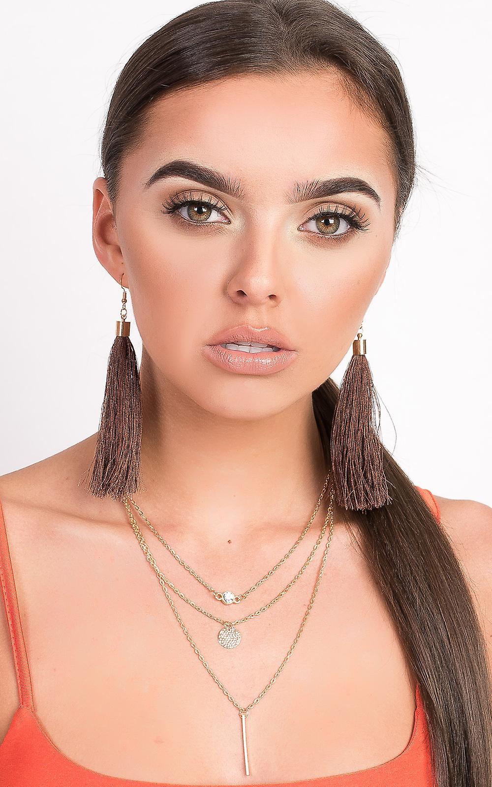 Outlet-Store Fantastisk pris IKRUSH Womens Roya Tassel Earrings 0MXFb