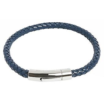 Simon Carter Thin Woven Bracelet - Navy