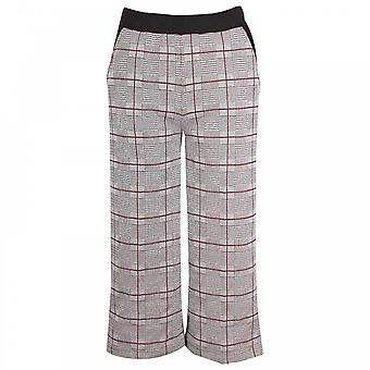Latte Women's Wide Legged Cropped Trousers