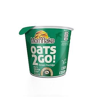 Mornflake Oats 2 Go Golden Syrup Porridge Pots