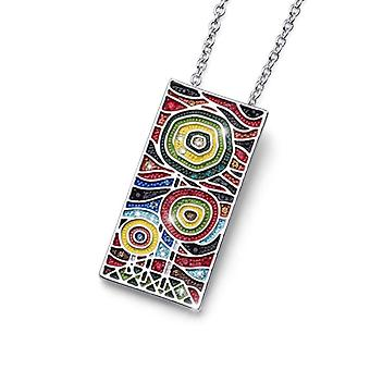 Oliver Weber Pendant Art Two Rhodium,Multi