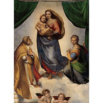 Die Sinistinenmadonna, Raphael, 50x40cm