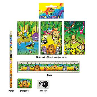 24 Jungle 5-tlg Briefpapiersets