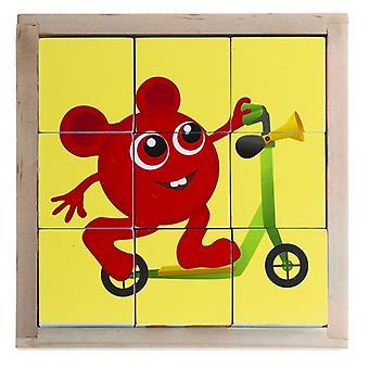 Babblarna-tehla puzzle, 9 kusov