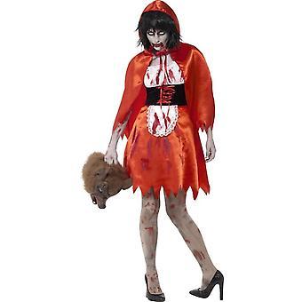 Zombie Little Miss Hood Costume, XS